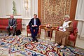 Secretary Kerry Sits With Omani Foreign Minister Yusuf bin Alawi and U.S. Ambassador Marc Sievers at the Ministry of Foreign Affairs in Muscat (30698028630).jpg