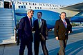 Secretary Kerry Walks with Ambassador Jones and Polish Deputy Director of Protocol Kanabus at Warsaw Chopin Airport in Poland (27552851083).jpg