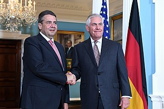 Sigmar Gabriel - Gabriel and U.S. Secretary of State Rex Tillerson in Washington, D.C., 17 May 2017