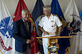 Secretary of Defense Chuck Hagel, left, laughs with U.S. Navy Adm. Samuel Locklear, the commander of United States Pacific Command, before signing the Pacific Command guest book in Honolulu May 29, 2013 130529-D-BW835-121.jpg