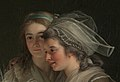 Self-Portrait with Two Pupils, Marie Gabrielle Capet (1761–1818) and Marie Marguerite Carreaux de Rosemond (died 1788) MET DP320103 (cropped).jpg