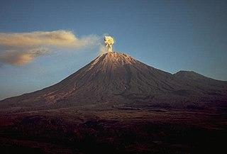 Semeru Stratovolcano in Indonesia