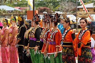 Demographics of Sabah - East Coast Bajau girls with their traditional dress.