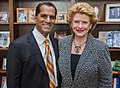 Senator Stabenow meets with a member of the American Association of Neurological Surgeons. (17192821530).jpg