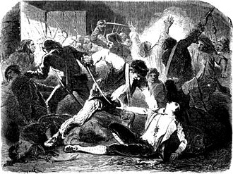 Lynching - September Massacres of 1792, in which Parisian mobs killed hundreds of royalist prisoners.