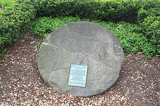 Buckeye-Shaker - The Shaker Mill Stone, which lies in Shaker Square