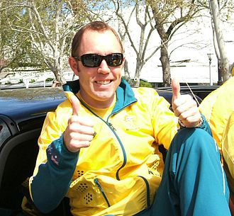 Shane Kelly - Kelly at the 2008 Summer Olympics welcome home parade, Adelaide