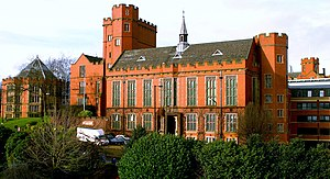 University of Sheffield - Firth Court, opened in 1905, with the Royal Charter