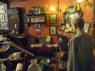 221B Baker Street - The sitting room of 221B Baker Street displayed at The Sherlock Holmes public house