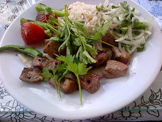 Shish kebab - Kuzu şiş (Lamb shish kebab)