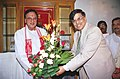 Shri Sunil Dutt assumes the charge of the Union Minister of Youth Affairs and Sports in New Delhi on May 25, 2004.jpg