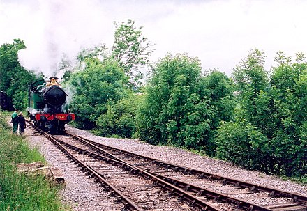 Mendip Vale the nearest station to the city of Wells which is cut off from the rest of the UK by the Beeching Axe.