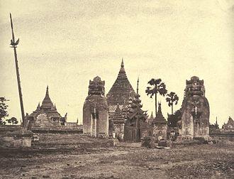 Shwezigon Pagoda - Shwezigon Pagoda in 1855