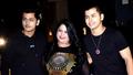 Siddharth Nigam, Abhishek Nigam And Vibha Nigam At Special Screening Of Panipat Movie ( Watermark Free Image) 2019.png
