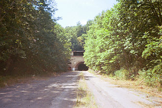 Abandoned Pennsylvania Turnpike - Eastern portal of the Sideling Hill Tunnel
