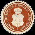 Siegelmarke Fürstlich Schaumburg Lippisches Katasteramt W0216535.jpg