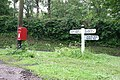 Sign Post and post box - geograph.org.uk - 455177.jpg