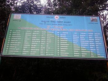Sign board in Kundadri hill.jpg