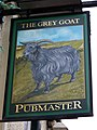 Sign for the Grey Goat - geograph.org.uk - 1878257.jpg