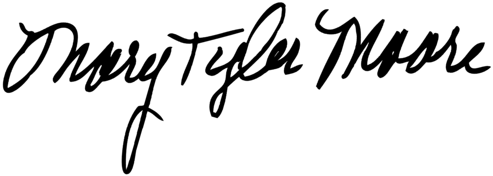 Signature of Mary Tyler Moore