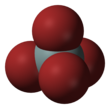 Space fill model of silicon tetrabromide