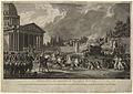 Simon Charles Miger, Translation de Voltaire au Panthéon Français, 1817.jpg
