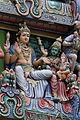 Singapore. Sri Mariamman. Gopuram. South East-10.JPG