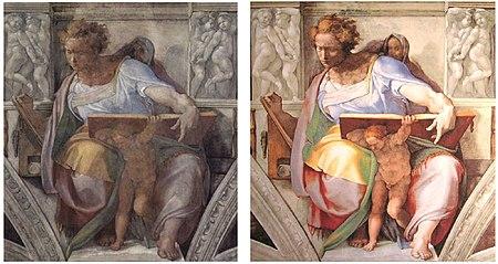 Sistine Chapel Daniel beforandafter