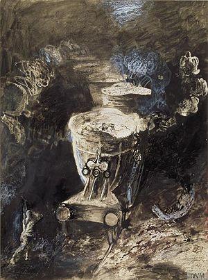 Graham Sutherland - Slag-ladles (1943) (Art.IWM ART LD 1773)