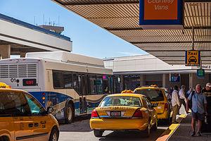 Salt Lake City International Airport - Passenger unloading zone at Terminal 1