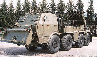 RM-70 multiple rocket launcher - RM-70 Slovak army.
