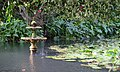 Small fountain in pond at Katikati Bird Gardens.jpg