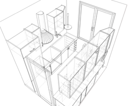 Small kitchen - perspective - sketch