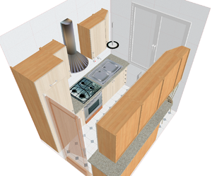 A small kitchen - technical drawing.