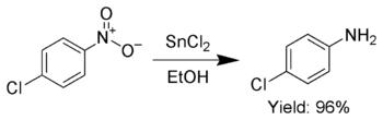 Phản ứng khử nhóm nitro thơm bằng cách sử dụng SnCl2