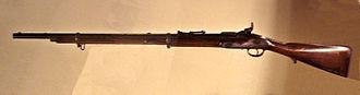 Snider–Enfield - A Snider rifle used in Japan during the Boshin war (1868–69).