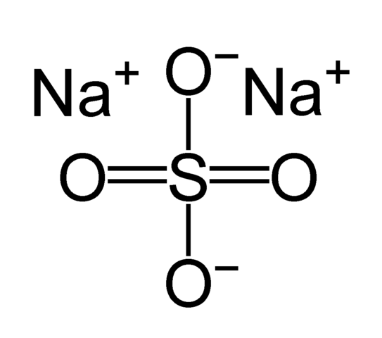 What is the molarity of sodium sulfate in solution of sodium sulfate?