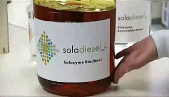 TerraVia - Solazyme Soladiesel shown in the company laboratory.