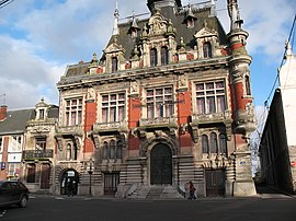 The town hall in Solesmes