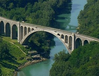 Solkan Bridge, the second-longest stone bridge in the world[1]