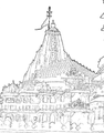 Somanatha view-II line drawing.png