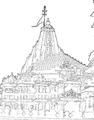 Somanatha view-II line drawing.png