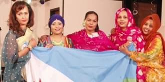 Somali Americans - Somali women at a Somali community event in Minneapolis.