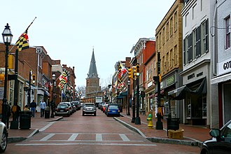 Annapolis, Maryland - Downtown Annapolis, Maryland