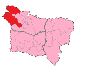 Somme's 3rd constituency - Somme's 3rd Constituency shown within Picardie.