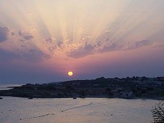 Sonnenuntergang im Golf von Tarent bei Montedarena.jpg