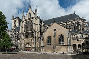 Troyes Cathedral - Image: South View of Troyes Cathedral 20140509 2
