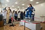 Soyuz MS-15 crew member Jessica Meir tests her vestibular system.jpg