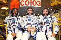 Sunita Williams, Juri Malentschenko, Akihiko Hoshide
