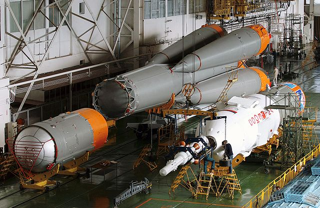Soyuz during assembly